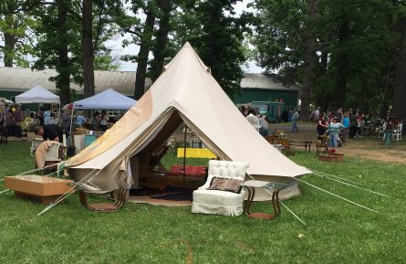 Can you say glamping?